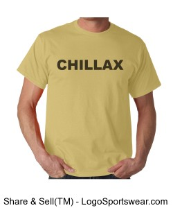 CHILLAX t-shirt Design Zoom