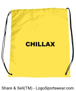 CHILLAX t-shirt, relax t-shirts Drawstring Sport Pack Design Zoom